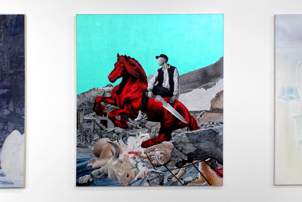 Vue de l'exposition personnelle de Yannick Lambelet, Quartier Général La  Chaux-de-Fonds. Photo Nathan Lopez.