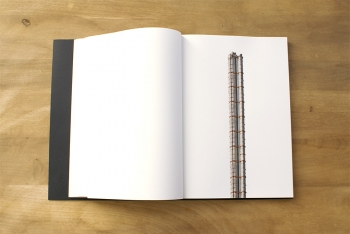 Towers Tout commence par un jeu, tournant à l'obsession, de transformer chaque architecture existante en gratte-ciel. Pures constructions numériques, ces tours se jouent de la folie des grandeurs de l'homme via son architecture. En Arabie Saoudite, la Jeddah Tower dépassera bientôt le kilomètre. • livre d'artiste, série de cent photomontages, dim. 21x30 cm, 2016 ©Amélie Scotta