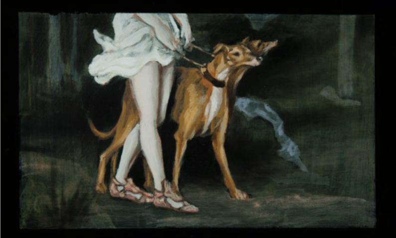 Carlos Gómez Salamanca, Lupus, Court-métrage d'animation, 9 min 41 s, 2016. Série de peintures, 29 cm x 17 cm.