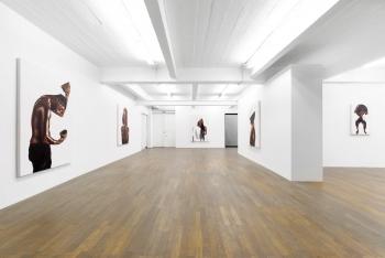 Vue d'exposition Fahamu Pecou / Black Magic - Backslash Gallery 2017. Photo Jérôme Michel