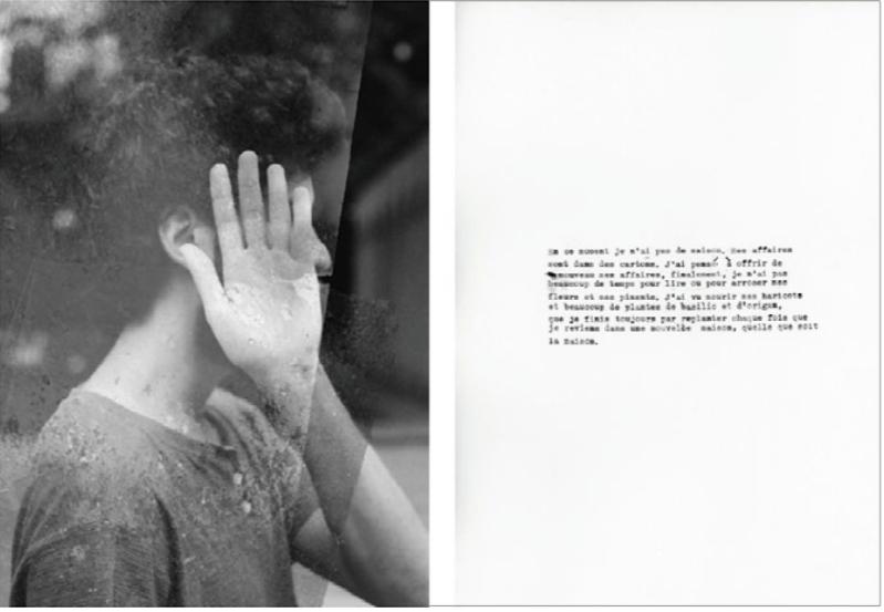 Hilda Caicedo, Note sur le territoire : poétique du déplacement, Édition composée de photographies, textes, écritures, 2017.
