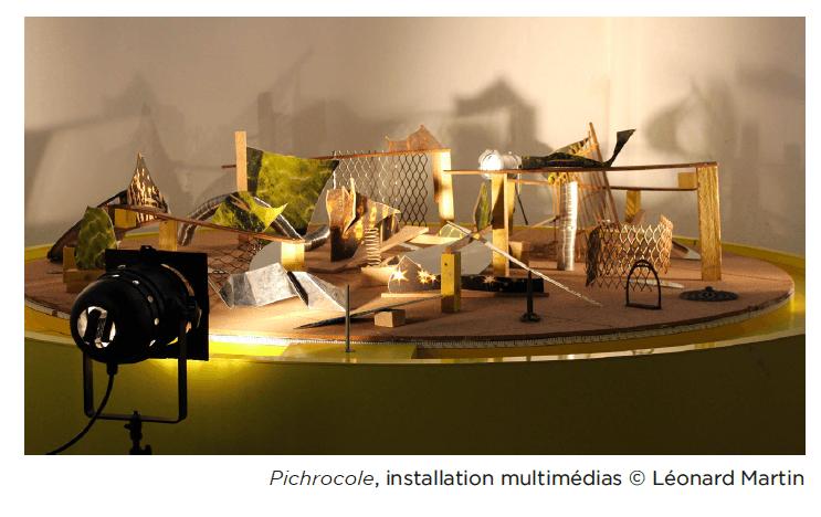 Léonard Martin, Pichrocole, installation multimédias © Léonard Martin