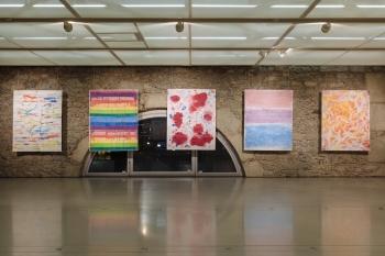 Melody Raulin, vue de l'exposition personnelle Suspensions, Cité du Temps, Genève. Photo Samuel Rubio