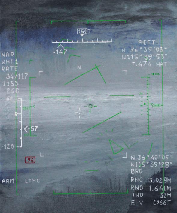 Alexandre d'Huy, Situation 2, 2015, huile sur toile, 65 x 54 cm.Courtesy de l'artiste et de la GalerieAnalix Forever, Genève.