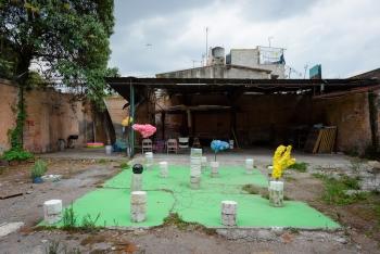 Caroline Schattling Villeval, Vue installation Chi Chi Chi, Biquini Wax Eps, Mexico, juillet 2017