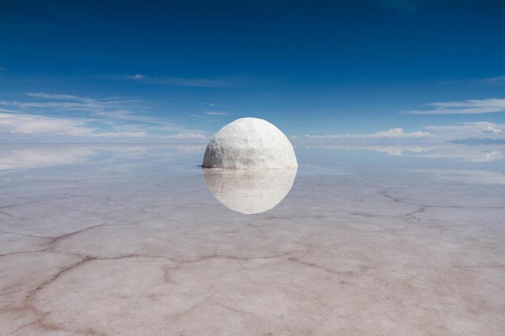 Guillaume Barth, Elina 2015, sel, eau, 300cm de diamètre, projet-Elina 2013-2015. Courtesy artiste.