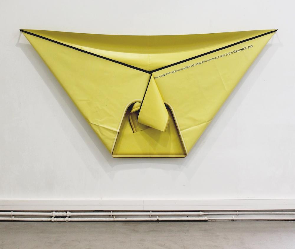 Jean-François Leroy, Bert, 2017. Bâche publicitaire, 295 x 148 cm. Courtesy artiste