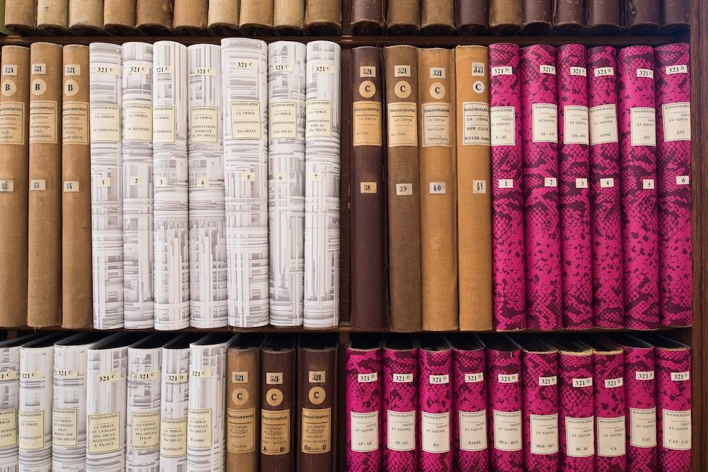 Mehryl Levisse - De l'importance du Motif. Jules Maciet ou l'utopie du classement - Bibliothèque des Arts décoratifs. Photo Martin Argyroglo