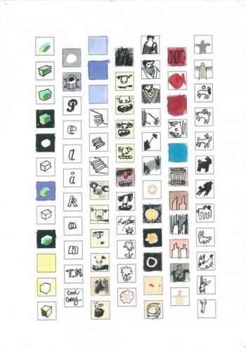 Sépànd Danesh, Encyclopédie de l'imagination, depuis 2004. Dessins à main levée sur feuille A4. Courtesy artiste et Backslash.