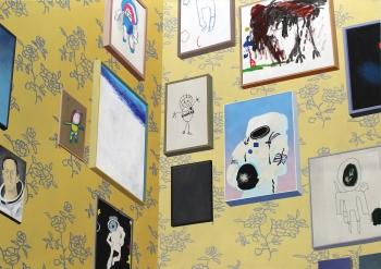 Sépànd Danesh, Mélancolie de l'espace, 2015.Huile, acrylique et spray sur toile, 140 x 200 cm. Courtesy artiste et Backslash