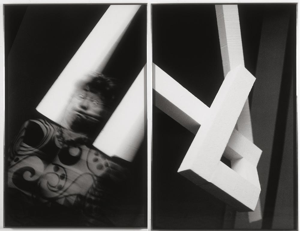 Anna et Bernhard Blume « Anna Blume », Série : Transzendentaler Konstruktivismus. Tirages originaux sur papier au gélatino-bromure d'argent, 2 x (126 x 82) cm, 1992/1994. Collection Neuflize OBC.