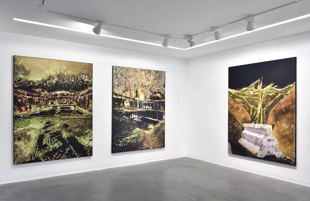 Vue de l'exposition Christine Barbe, Là-bas – Down There Galerie Eric Mouchet, du 27 janvier au 10 mars 2018 ©Rebecca Fanuele