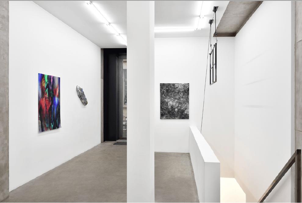 vue de l'expositionESC(ape)/CTRL deValentin Dommanget Galerie Lily Robert Paris.Photo Eve Campestrini & Rebecca Fanuele