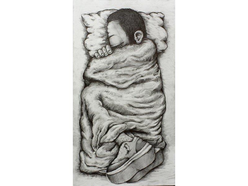 Antoine Desailly, PLS, 2018. Graphite, 50x65cm. Courtesy artiste et galerie MODULAB