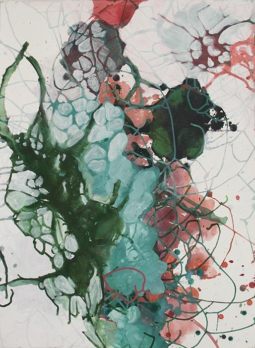Elisa Ghertman, Entrelacs, peinture sur papier