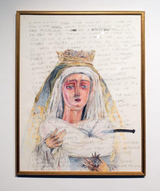 Eva Bergera, Les Corps Glorieux II, 2016. Acrylique et technique mixte, format Jésus. Courtesy artiste.
