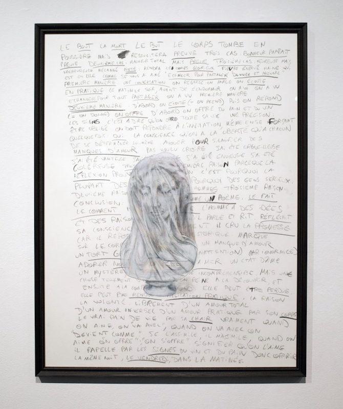 Eva Bergera, Les Corps Glorieux III, 2016. Acrylique et technique mixte, format Jésus. Courtesy artiste.