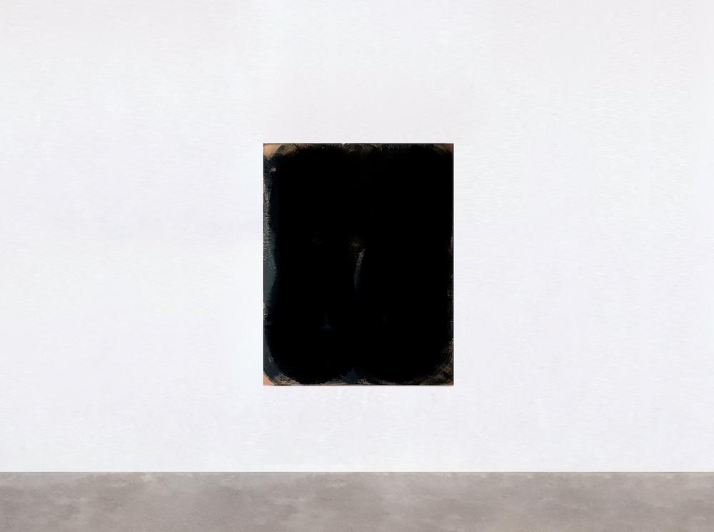 Eve Beaurepaire, Sans titre, 2014 / technique mixte (peinture, résine, carton) sur toile, 130cm X 106 cm