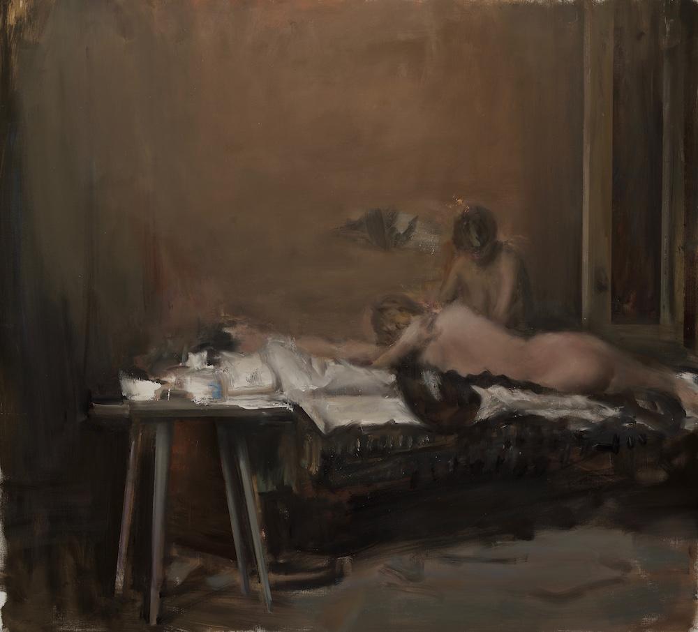 Florin Stefan, Entanglement, 2017, huile sur toile, 200 x 220 cm, courtesy de l'artiste et de la galerie Anne-Sarah Bénichou
