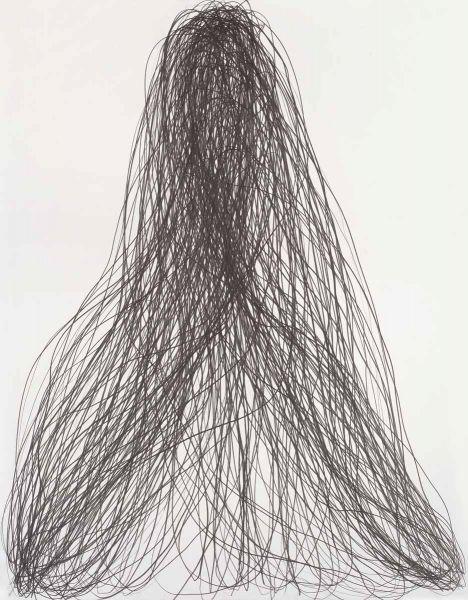 Gilgian Gelzer, sans titre, 2016. Graphitesur papier, 140x110cm. Photo A Ricci