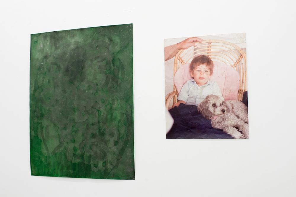 Vue de l'exposition de Henrik Hegray – NO BAHNHOF, Galerie Escougnou Cetraro Paris. Courtesy artiste et galerie