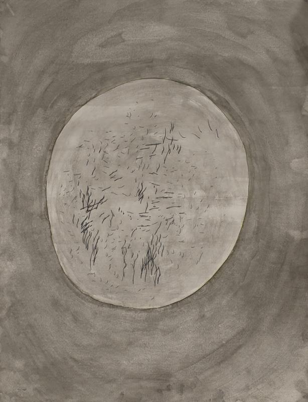 Hendrik Hegray, Tance Zéro, 2017 Stylo Bic et encre sur papier 65 x 50 cm. Unique