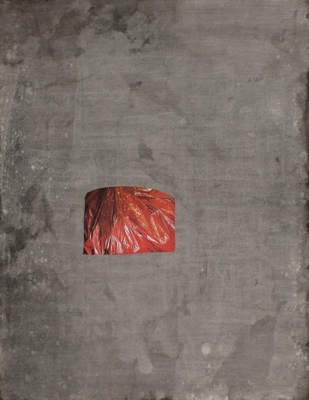 Hendrik Hegray, Le tremblement du crépuscule, 2018 Encre et collage sur papier 65 x 50 cm. Unique