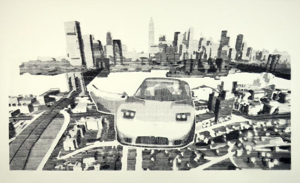 """Jean-Baptiste Perrot, Série de dessin issue de son solo show """" Video Game Glitches"""" du 10 mars au 11 avril 2018 Galerie ALB AnoukLeBourdiec"""