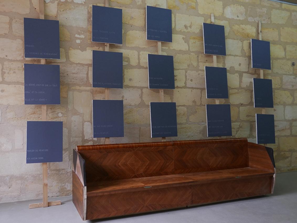 Mirsad Jazic, Emmanuel Ballange, vue de l'exposition Grand Salon, Rezdechaussee Bordeaux. Courtesy artistes