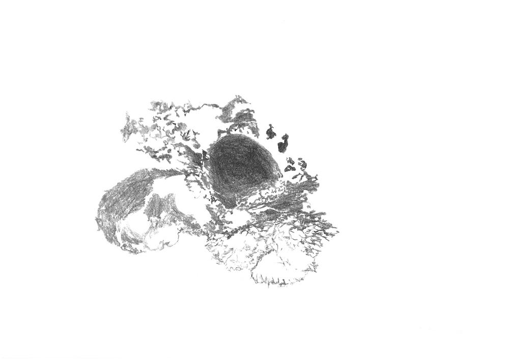 Rémi de Chiara, Post-carbone, lithographie sur papier, 30x42cm, 2016 - édition URDLA
