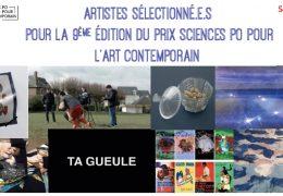 [FLASH ACTU] Artistes sélectionné.e.s pour la 9ème édition du Prix sciences Po pour l'art contemporain