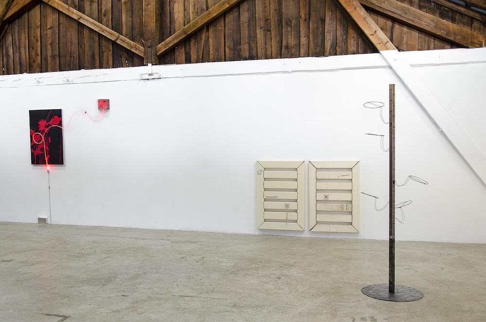 Jonathan Vidal, vue d'exposition SENSORS : MÖGLICH, HUMAN FACTORS : ♡ Duplex, Genève
