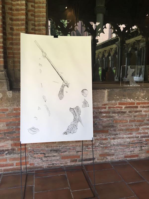 Steven Ravary, Bouts manquants. Vue de l'exposition Pièce montée des étudiants de l'isdaT beaux-arts, Toulouse. Musée des Augsutins