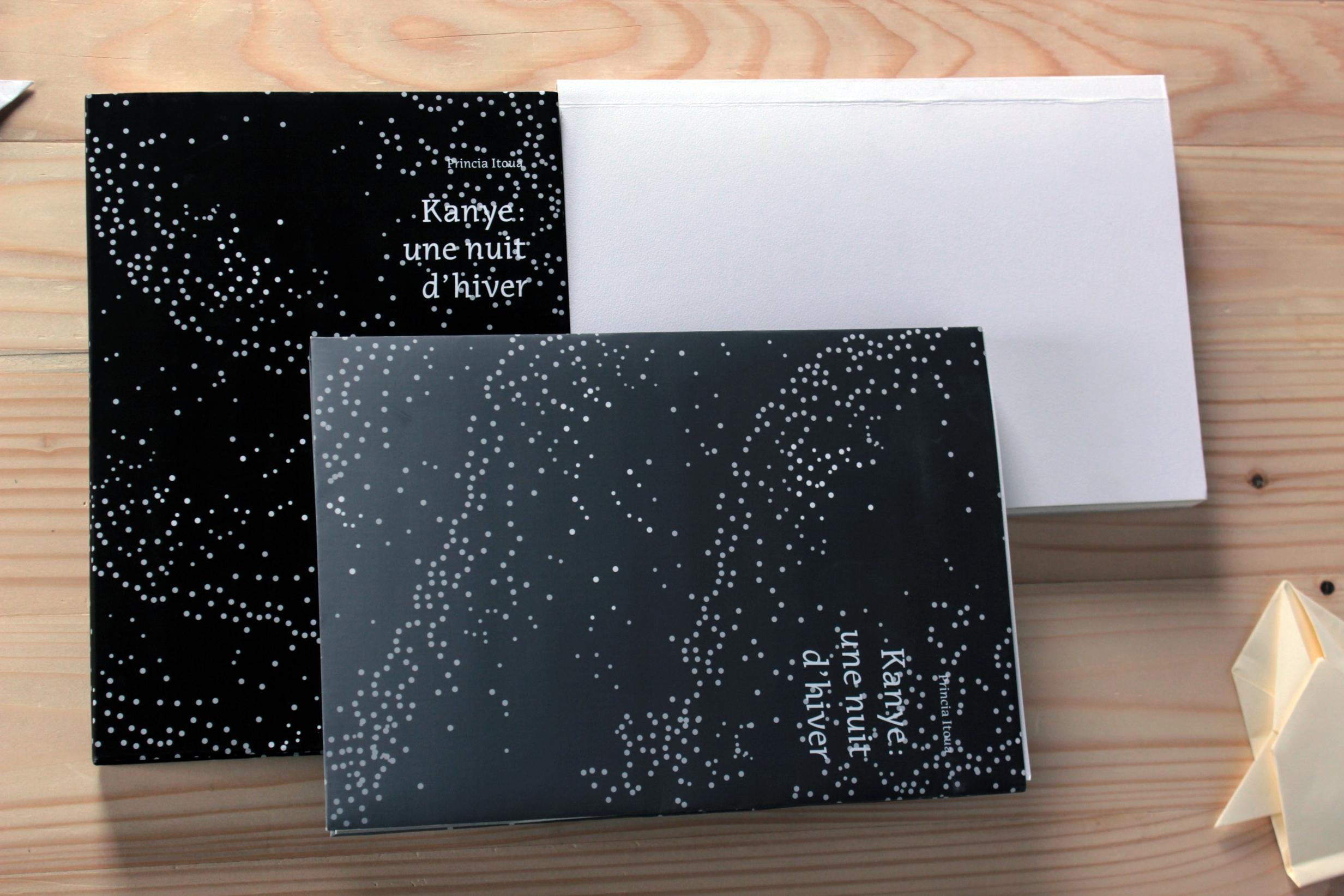 Princia Itoua, Kanye: une nuit d'hiver, 2017 Design graphique, Design éditorial, Narration 23 x 16 cm
