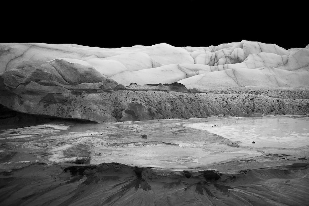 Sandrine Elberg, Territoire de glace. Photographie jet d'encre sur papier, 60x80cm