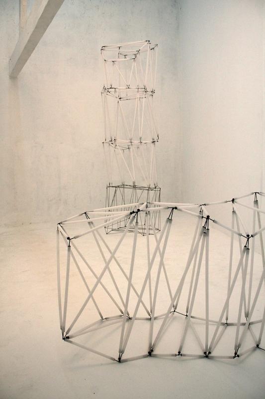 vue de l'exposition personnelle deSimon Thiou, Géométries cristallines, à Mutatio, Artist-Run Space, Nantes.