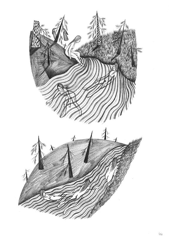 Fanny Michaëlis, «Le Lait noir», éditions Cornélius, mine de plomb sur papier, 21 × 29,7 cm, 2016. Courtesy de l'artiste