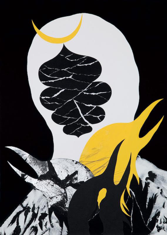 Julien Langendorff, «Victory or Death», papiers découpés, feuille d'argent, mine de plomb sur papier, 50 cm × 70 cm, 2018. Courtesy de l'artiste