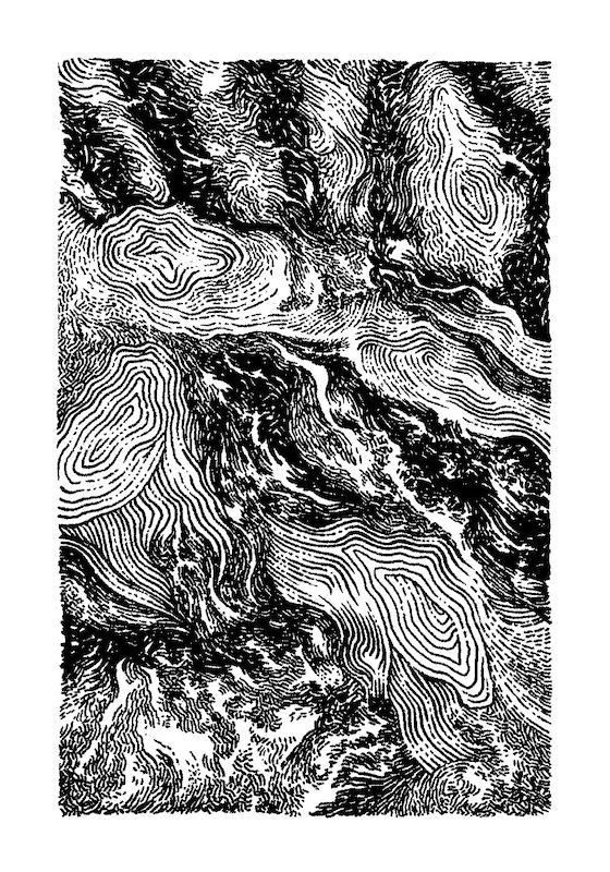 Xavier Mussat, «Dessins abstraits», éditions Apocope (texte de Charles Robinson), carnet 15 × 10,5 cm, 2016. Courtesy de l'artiste