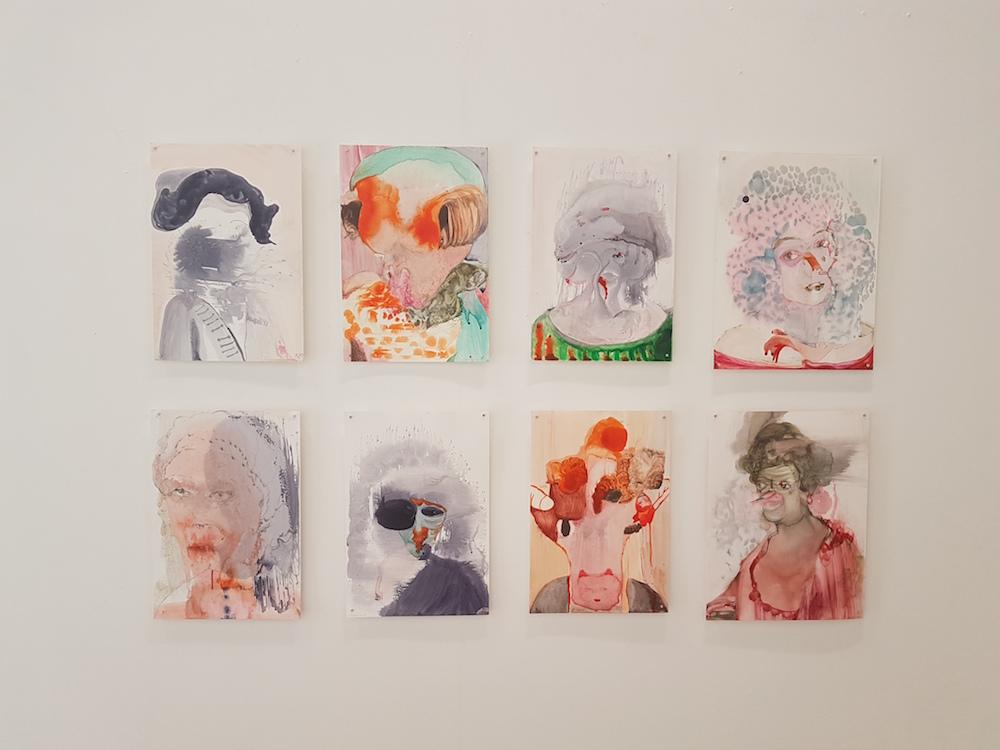 Anya Belyat-Giunta, vue d'exposition Galerie Henri Chartier Lyon