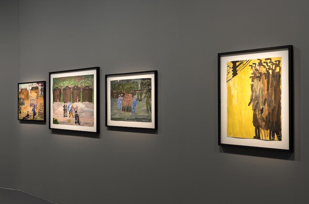 Vue de l'exposition Ceija Stojka, une artiste rom dans le siècle, la maison rouge Paris© Marc Domage