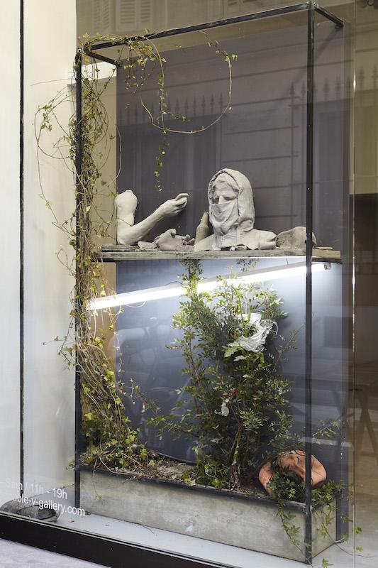 Vue de l'exposition Ugo Schiavi, Rudus, Ruderis. Double V gallery Marseille. Photo© Jc Lett