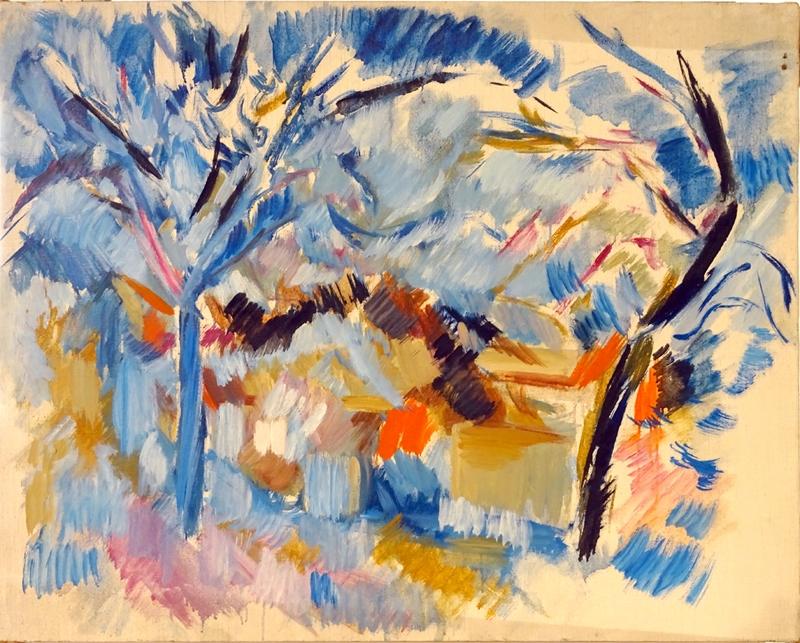 Jacques Mandelbrojt, Arbres à Aurons, 1954. Courtesy artiste.