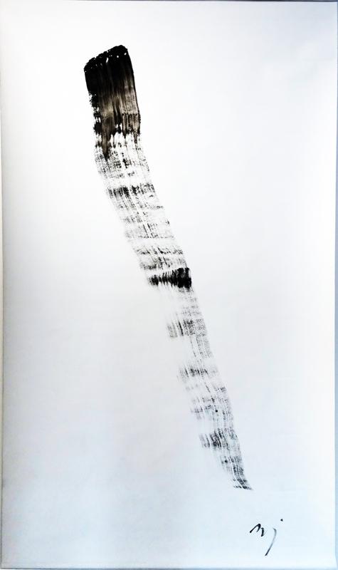 Jacques Mandelbrojt, Sans titre, acrylique sur toile, 210 x 120 cm. Courtesy artiste.