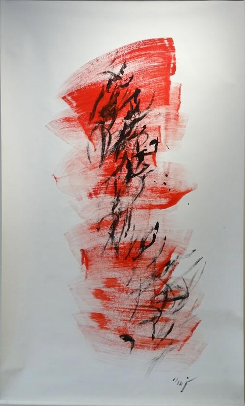 Jacques Mandelbrojt, Sans titre, acrylique sur polytoile, 213 x 127 cm. Courtesy artiste.