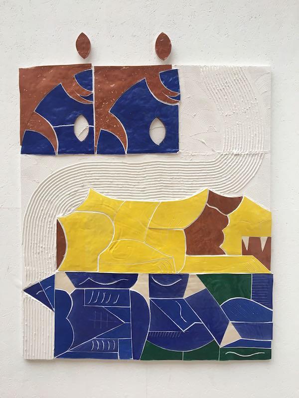 Maximilien Pellet, Le lion près de la rivière, 2018. Vue exposition 68e édition Jeune Création - Beaux-arts de Paris 2018