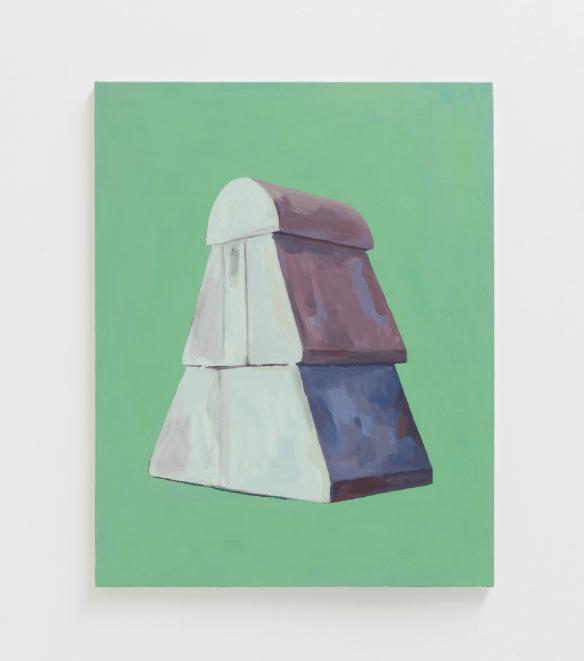 Nelly Monnier, La Roche-Rigault, 2018, huile sur toile, 81 x 65 cm
