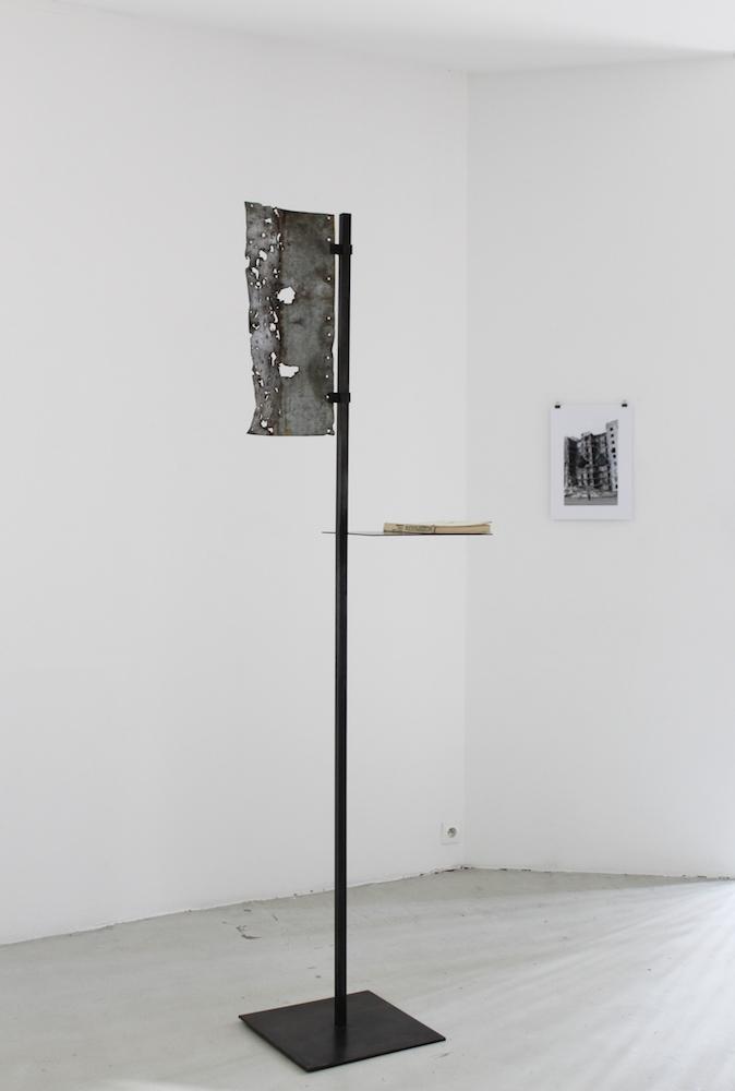 Babi Badalov & Nikita Kadan, vue de l'exposition, 2018.Courtoisie : Galerie Jérôme Poggi, Paris