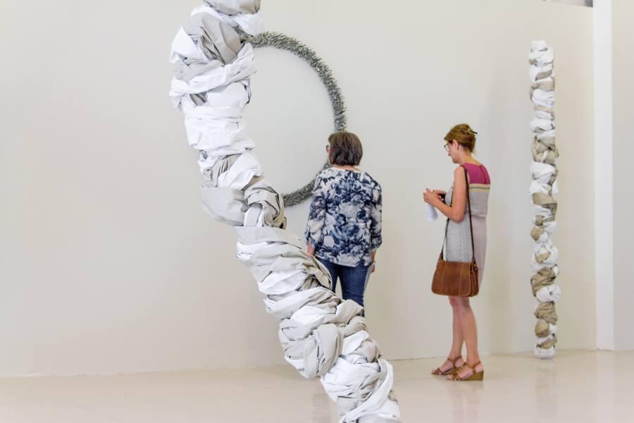 Vue de l'exposition Aurélie Belair, PHAINÓMENON, Ateliers VORTEX Dijon