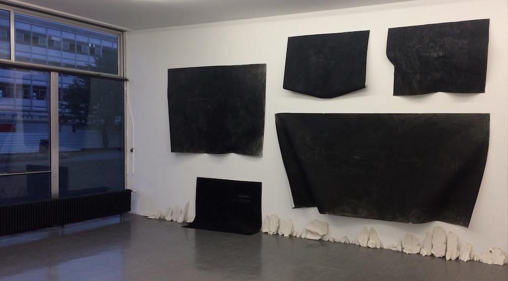 Claire Georgina Daudin, Vue de l'exposition PEAUX DES MURS, INSA Lyon, 2018.